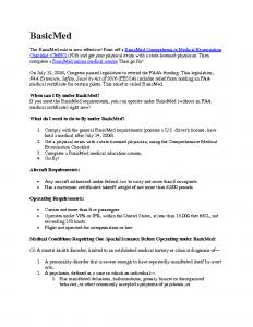 BasicMed Information Pamphlet