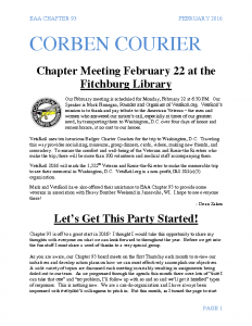 February 2016 Corben Courier