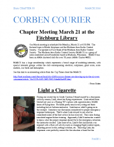 March 2016 Corben Courier