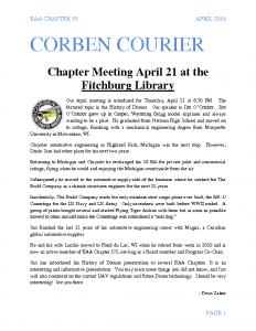 April 2016 Corben Courier