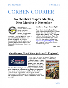 October 2016 Corben Courier