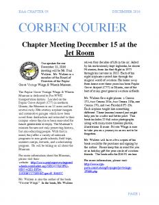 December 2016 Corben Courier
