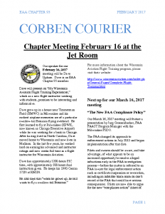 February 2017 Corben Courier