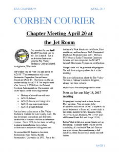 April 2017 Corben Courier